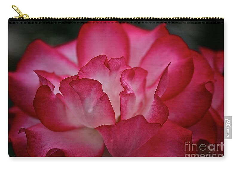 Floral Carry-all Pouch featuring the photograph Pink Ice by Susan Herber