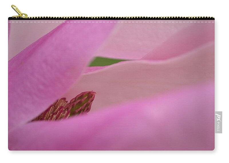 J.d. Grimes Carry-all Pouch featuring the photograph Pink Magnolia by JD Grimes