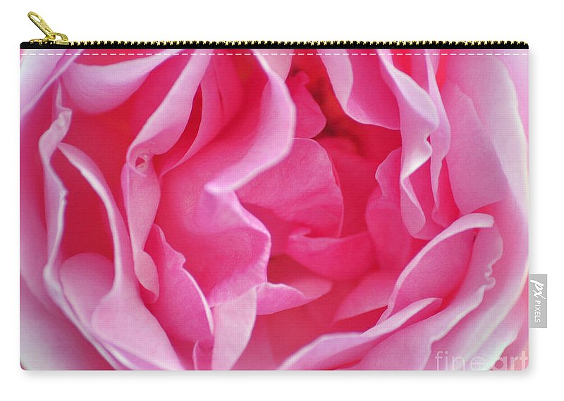 Pink Carry-all Pouch featuring the photograph Pink March Rose 2012 Limited Edition by Clayton Bruster