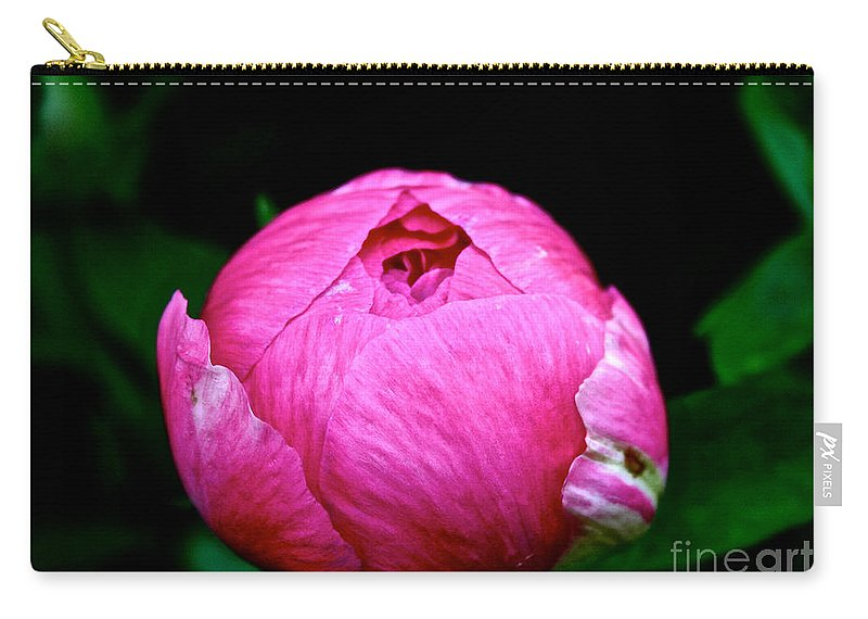 Plant Carry-all Pouch featuring the photograph Pink Peony Bud by Susan Herber