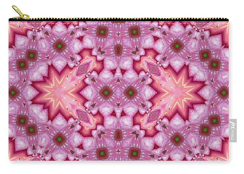 Abstract Carry-all Pouch featuring the mixed media Pink Splash Mandala Abstract by Georgiana Romanovna