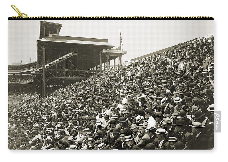 1910 Carry-all Pouch featuring the photograph Pittsburgh: Forbes Field by Granger