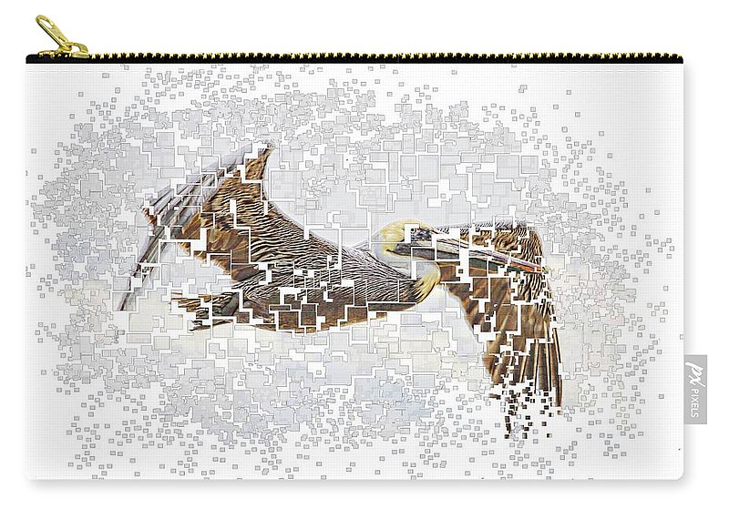 Pelican Carry-all Pouch featuring the photograph Pixel Pelicano by Alice Gipson