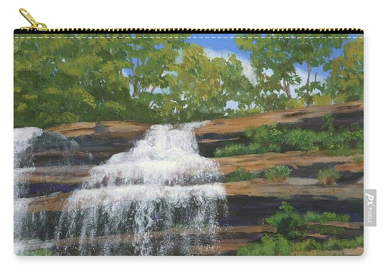 Waterfalls Carry-all Pouch featuring the painting Pixley Falls by Lynne Reichhart