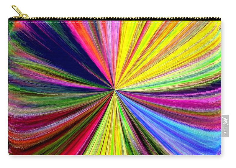 Abstract Carry-all Pouch featuring the digital art Pizzazz 39 by Will Borden