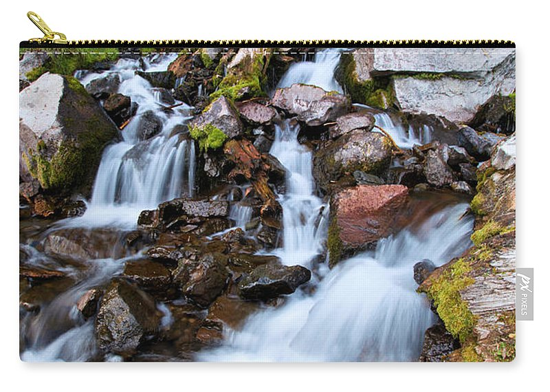 Waterfalls Carry-all Pouch featuring the photograph Plaikni Falls by Adam Jewell
