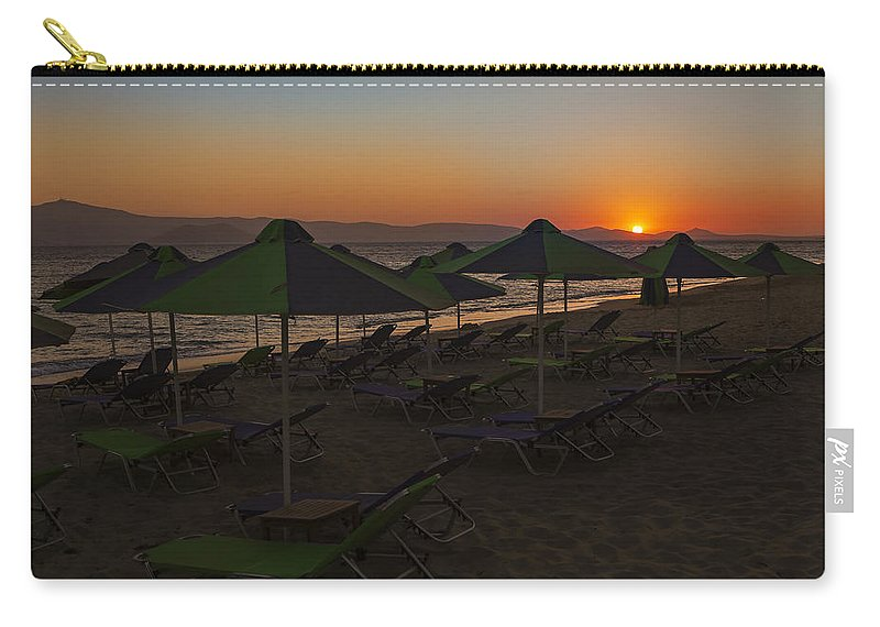 Plaka Carry-all Pouch featuring the photograph Plaka - Naxos by Joana Kruse