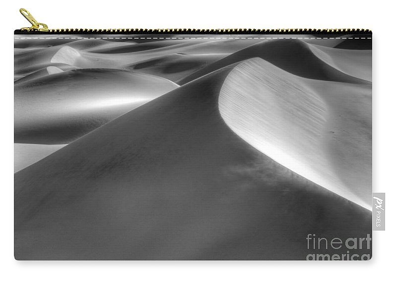 Wind Carry-all Pouch featuring the photograph Platinum Dunes by Bob Christopher