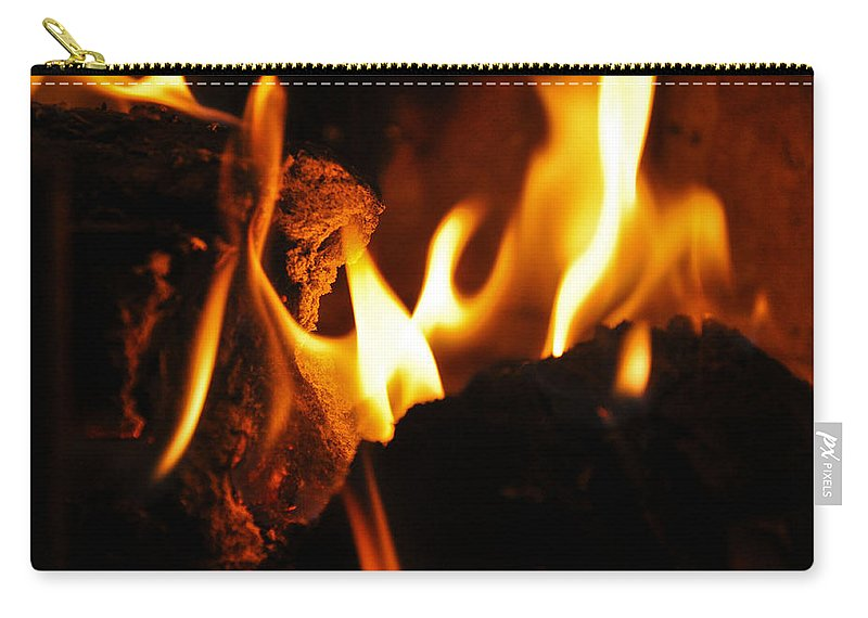 Fire Carry-all Pouch featuring the photograph Playing With Fire II by Christine Stonebridge