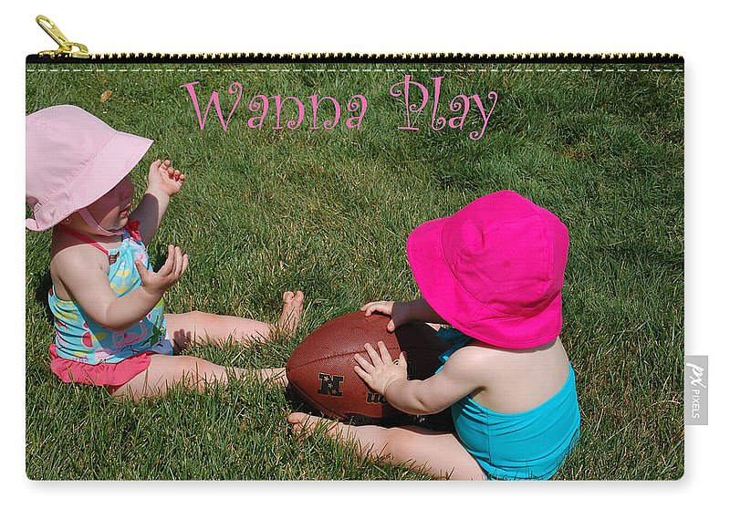 Twins Carry-all Pouch featuring the photograph Playtime by Aimee L Maher ALM GALLERY