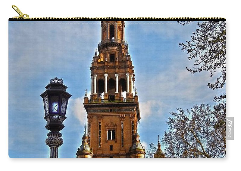 Europe Carry-all Pouch featuring the photograph Plaza De Espana - Sevilla by Juergen Weiss
