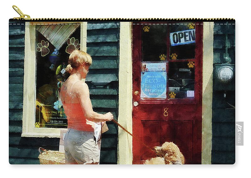 Dog Carry-all Pouch featuring the photograph Please Can I Have A Treat by Susan Savad