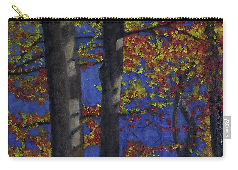 Plein Air Carry-all Pouch featuring the painting Plein Air 102 by Thu Nguyen