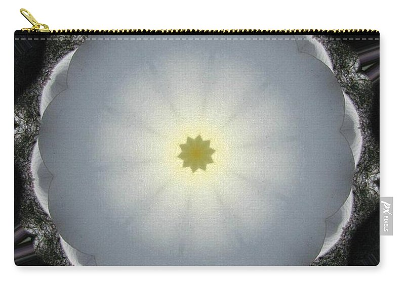 Digital Design Carry-all Pouch featuring the photograph Plumeria 5 by Mark Gilman