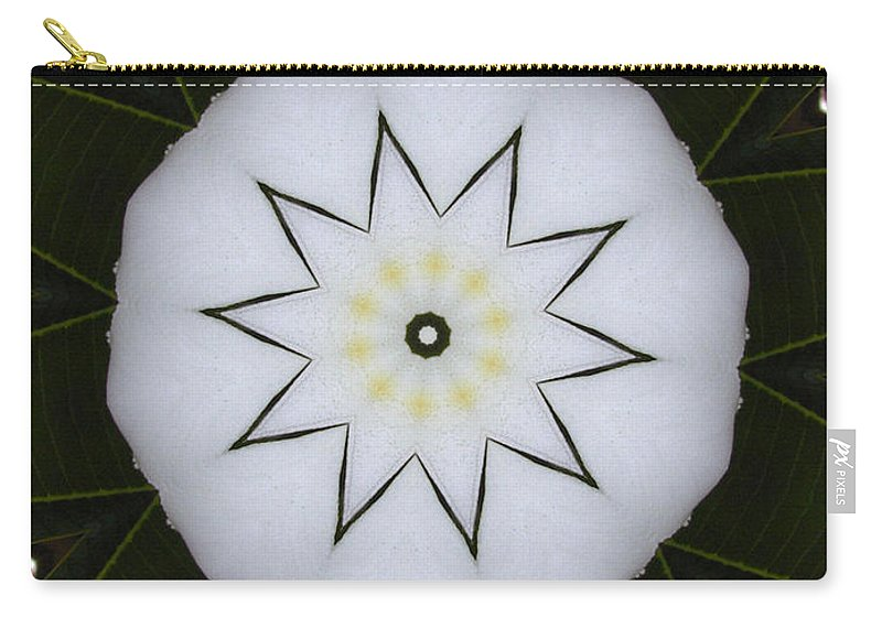 Digital Design Carry-all Pouch featuring the photograph Plumeria by Mark Gilman