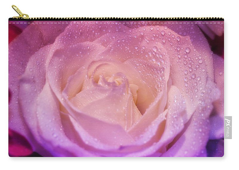 Nature Carry-all Pouch featuring the photograph Plush Pedals by Linda Tiepelman
