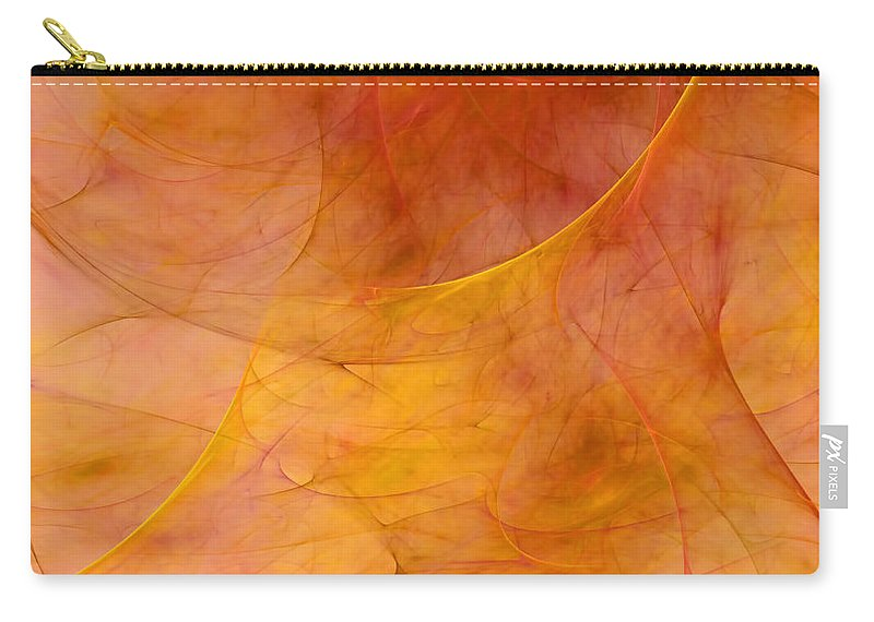 Abstract Carry-all Pouch featuring the digital art Poetic Emotions Abstract Expressionism by Georgiana Romanovna