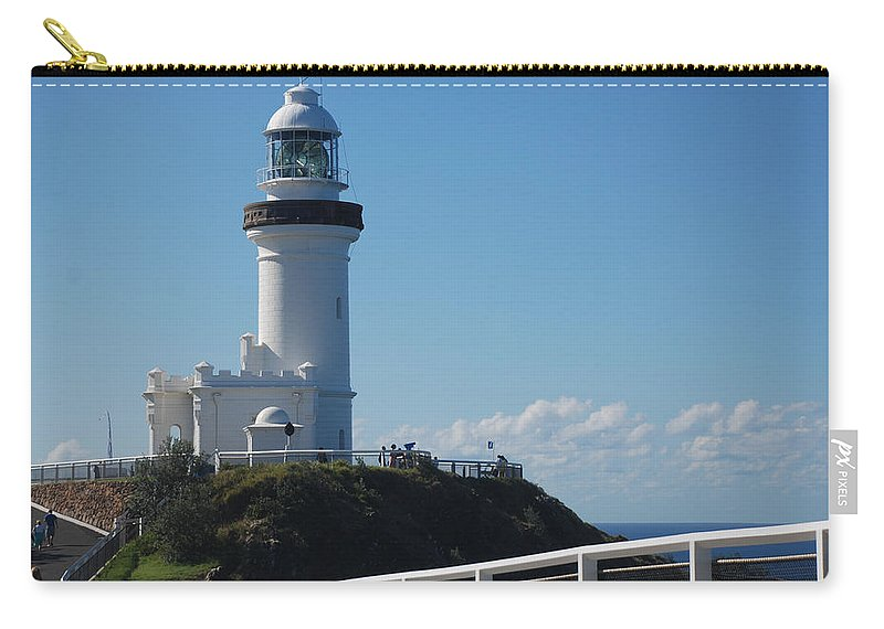 Point Danger Light Carry-all Pouch featuring the photograph Point Danger Light by Eric Tressler