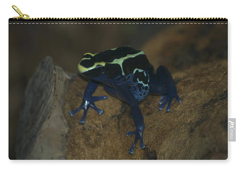 Animals Carry-all Pouch featuring the digital art Poisonous Frog 01 by Thomas Woolworth