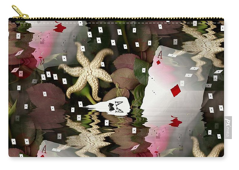 Landscape Carry-all Pouch featuring the mixed media Poker Pop Art All In by Pepita Selles