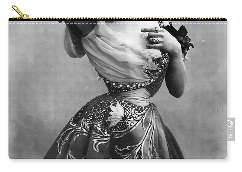 Polaire Felix Nadar 1974 1939 1894 Woman Female Girl Beauty Erotic Sexy Black Carry-all Pouch featuring the photograph Polaire Ca.1896 by Steve K