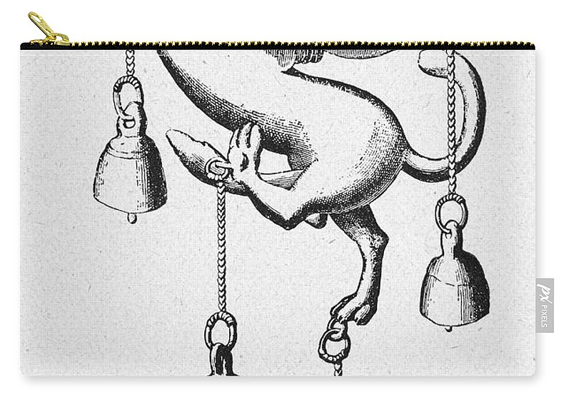 Ancient Carry-all Pouch featuring the photograph Pompeii: Phallic Bronze by Granger