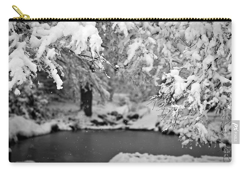 Winter Carry-all Pouch featuring the photograph Pond Mystere by Mike Reid