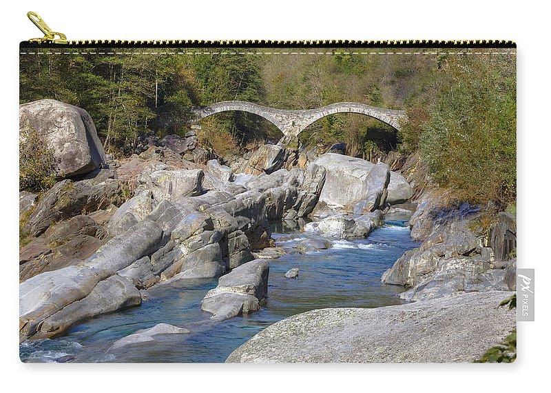 Lavertezzo Carry-all Pouch featuring the photograph Ponte Dei Salti - Lavertezzo by Joana Kruse