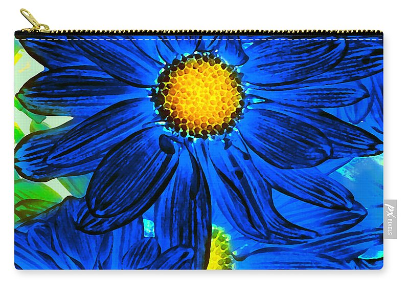 Pop Daisy Carry-all Pouch featuring the photograph Pop Art Daisies 15 by Amy Vangsgard