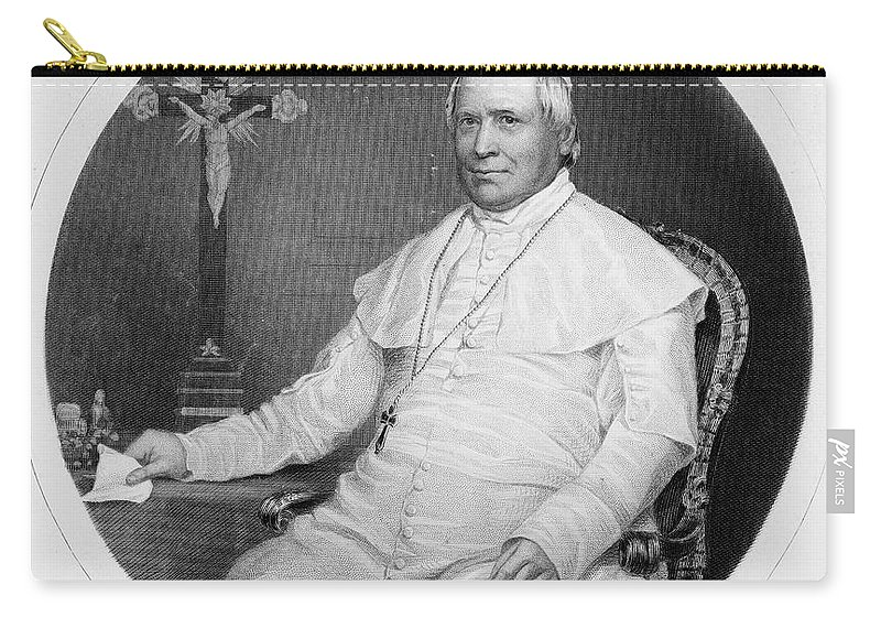 1860 Carry-all Pouch featuring the photograph Pope Pius Ix (1792-1878) by Granger