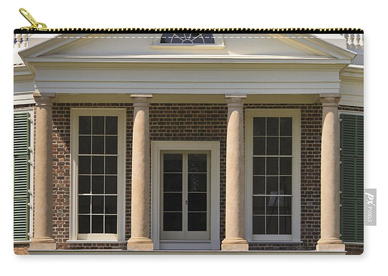 Poplar Forest Carry-all Pouch featuring the photograph Poplar Forest South Portico by Teresa Mucha