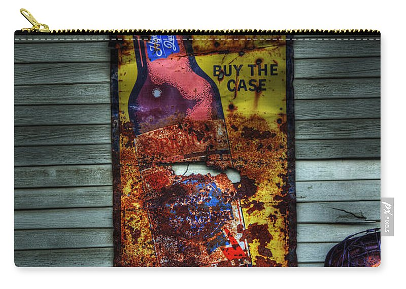 Sign Carry-all Pouch featuring the photograph Popular Prices by Bob Christopher