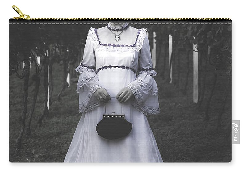 Girl Carry-all Pouch featuring the photograph Porcelain Doll by Joana Kruse