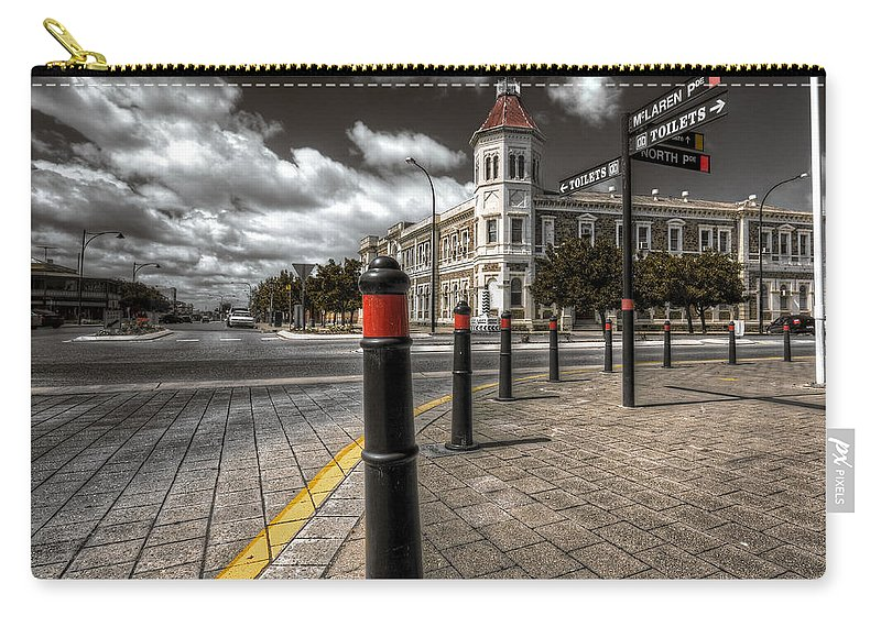 Port Adelaide Carry-all Pouch featuring the photograph Port Adelaide by Wayne Sherriff