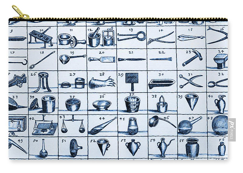 History Carry-all Pouch featuring the photograph Portable Laboratory Of Johann Joachim by Science Source