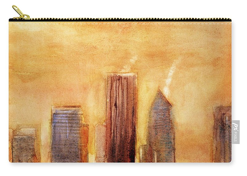 Portland Carry-all Pouch featuring the painting Portland Sunrise by Ryan Fox