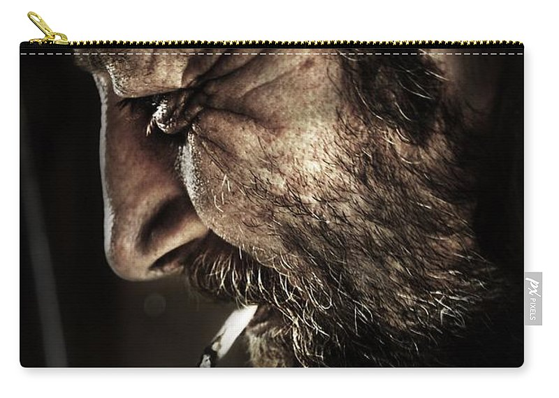 Yhun Suarez Carry-all Pouch featuring the photograph Portrait Of A Man by Yhun Suarez