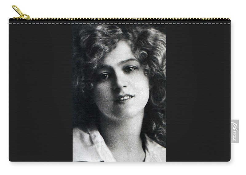 Abrielle Ray Actress Silent Movie Hollywood 1905 Star Woman Girl Female Sexy Erotic Carry-all Pouch featuring the photograph Portrait Of Gabriella Ray by Steve K