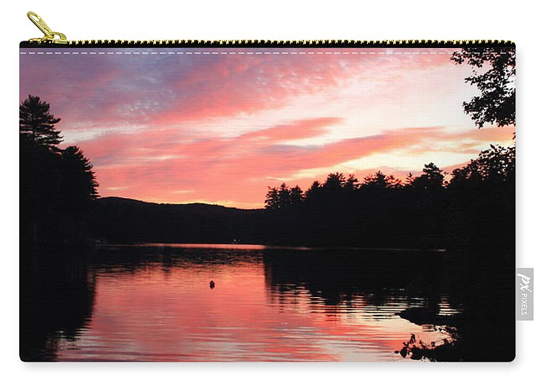 Lake Waukewan Carry-all Pouch featuring the photograph Portrait Of Lake Waukewan by Jeff Heimlich