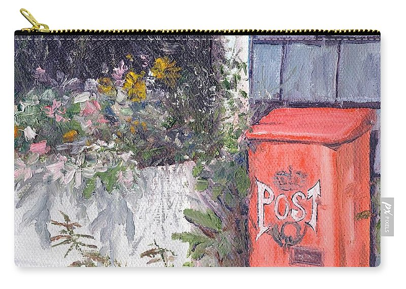 Post Box Carry-all Pouch featuring the painting Post Box by Susan Hanna