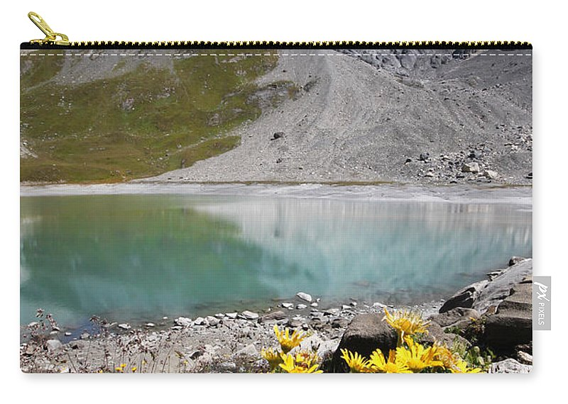 Alpes Carry-all Pouch featuring the photograph Postcard From Alpes by Mircea Costina Photography