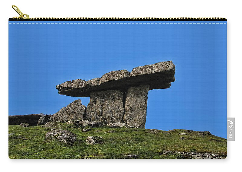 Poulnabrone Carry-all Pouch featuring the photograph Poulnabrone Dolmen by David Gleeson