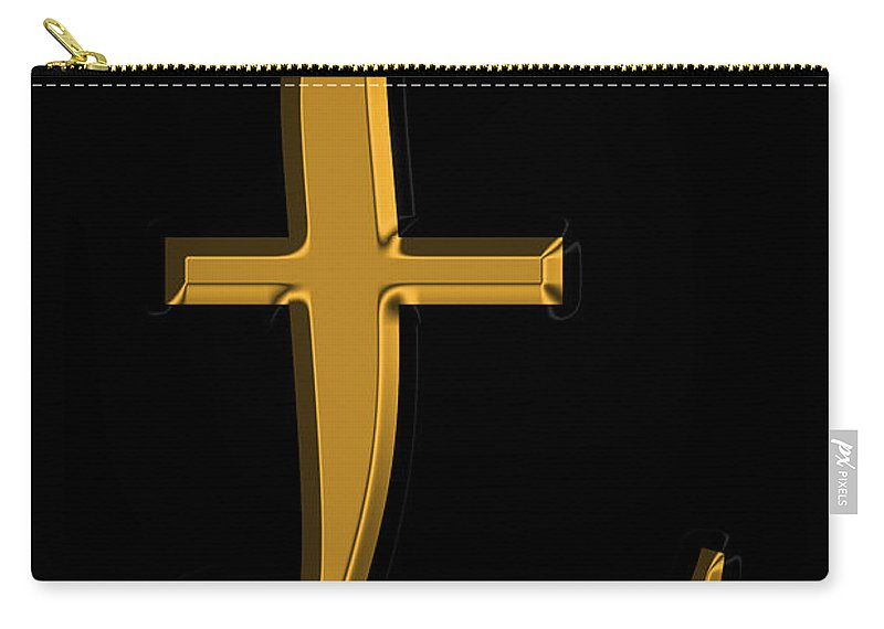 Pound Carry-all Pouch featuring the photograph Pound Sterling In Gold by Andrew Fare
