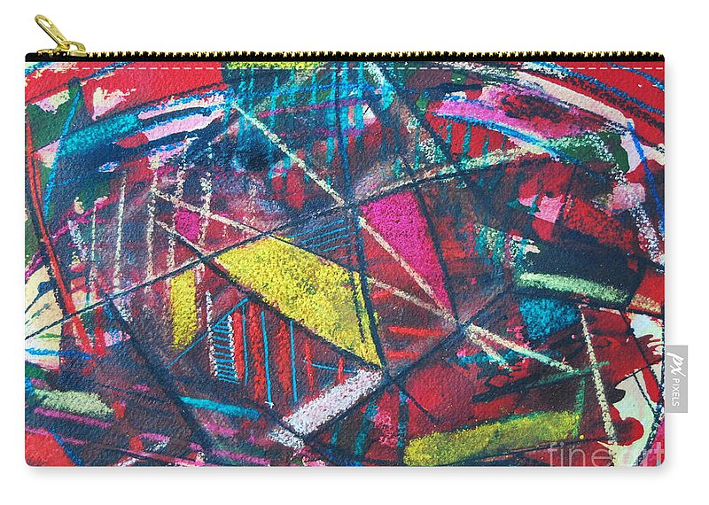 Abstract Carry-all Pouch featuring the painting Powder Dreams by Ana Maria Edulescu