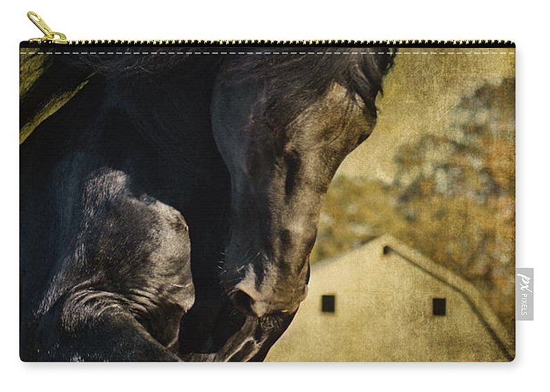 Power House Horse Carry-all Pouch featuring the photograph Power House Horse by Wes and Dotty Weber
