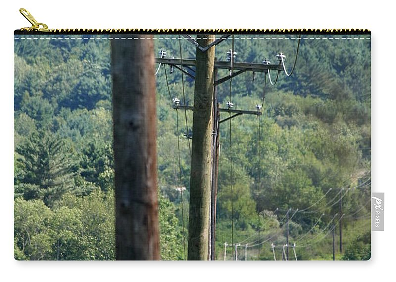 Power Lines Carry-all Pouch featuring the photograph Power Lines by Neal Eslinger