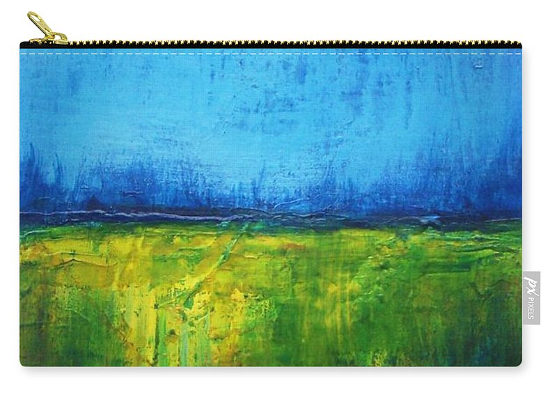 Landscape Carry-all Pouch featuring the painting Splendor In The Grass by Vesna Antic
