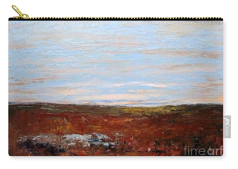 Landscape Carry-all Pouch featuring the painting Prairie by Vesna Antic