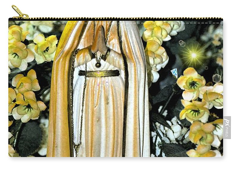 Pray Carry-all Pouch featuring the photograph Pray For Us by Maria Urso