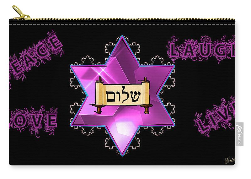 Digital Art Carry-all Pouch featuring the digital art Prayers by Ericamaxine Price